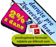 Darujte 2% z dane pre Zborovský hrad
